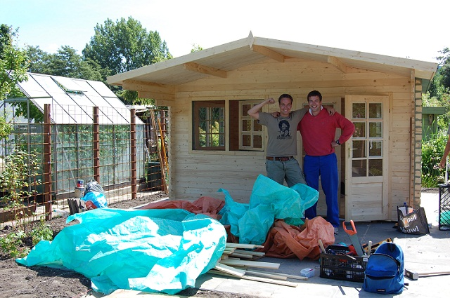 Prefab Bouwen Nadelen : Uw tuinhuis of blokhut zelf bouwen bouwpakket tuinhuis